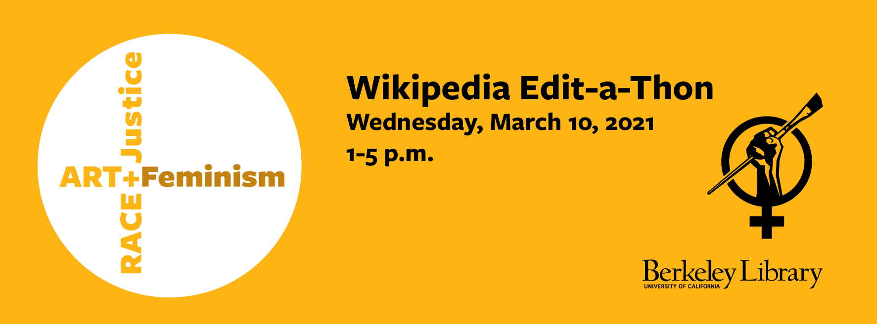 Edit-a-thon logo and date-time