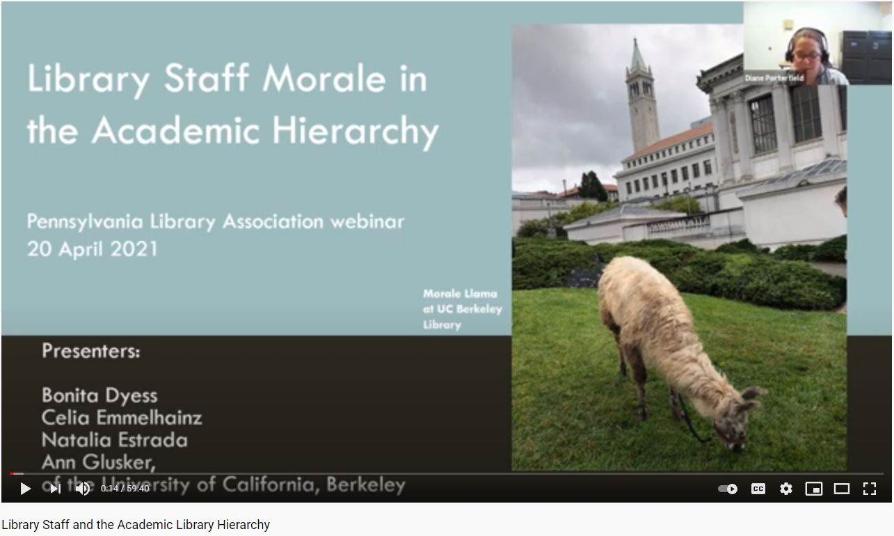 Screenshot of title slide of PA Library Association webinar