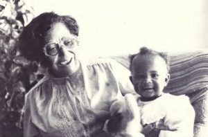 Woman holding 1 year old