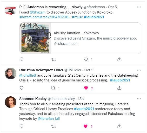 LAUCB Conference Tweet-Closing Thanks