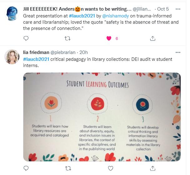 LAUCB Conference Tweet- Lia UCSD