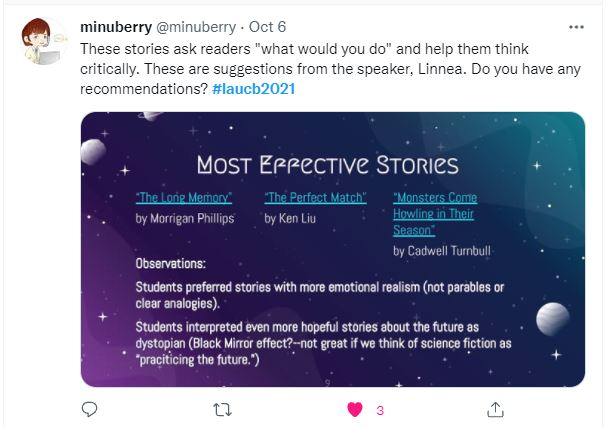 LAUCB Conference Tweet- Most Effective Stories